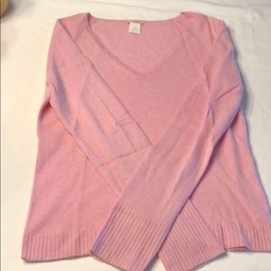 J Crew Cashmere V neck sweater Size Medium